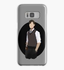 Spencer Reid / Matthew Gray Gubler Criminal Minds Sillouette Art With Background Samsung Galaxy Case/Skin