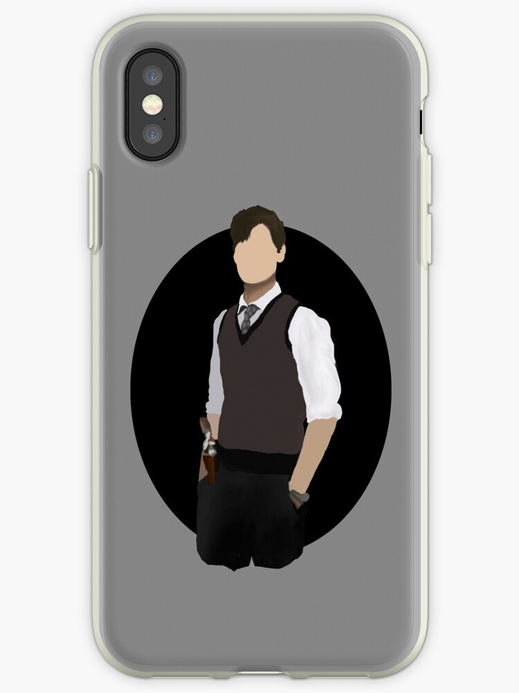 'Spencer Reid / Matthew Gray Gubler Criminal Minds Sillouette Art With  Background' iPhone Case by Weyheycallie