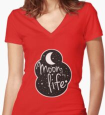 Moon of my life Women's Fitted V-Neck T-Shirt
