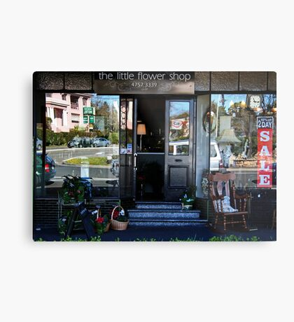 Reflexionen in einem Schaufenster Metalldruck