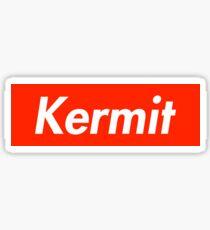 Kermit as Supreme Logo Sticker