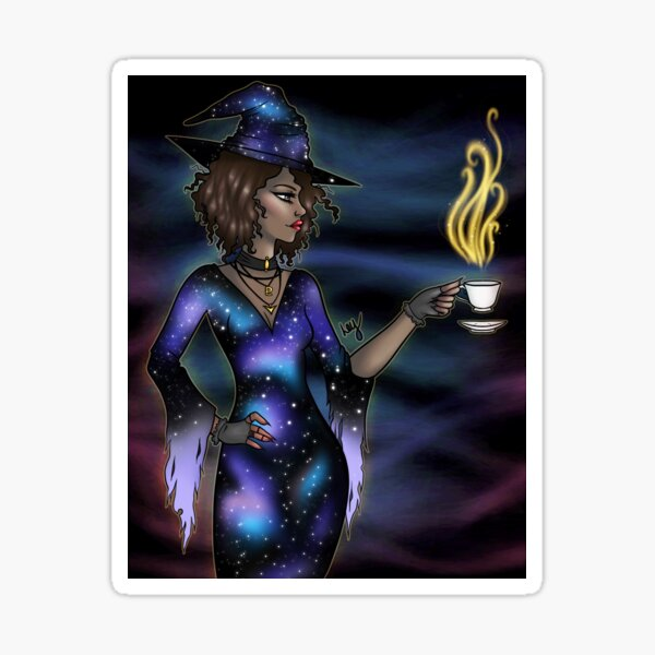 Galaxy Witch Sticker