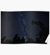Milky Way Galaxy, Night-Time Stars - HD Photograph Poster