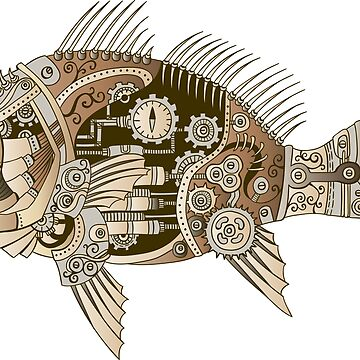 Steampunk mechanical fish by 2shoes4blues