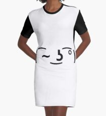 Lenny Face Winking Graphic T-Shirt Dress