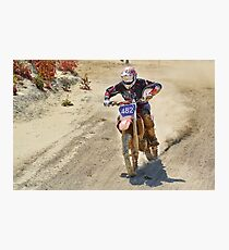 Dirt Bike - Dirt Road Photographic Print