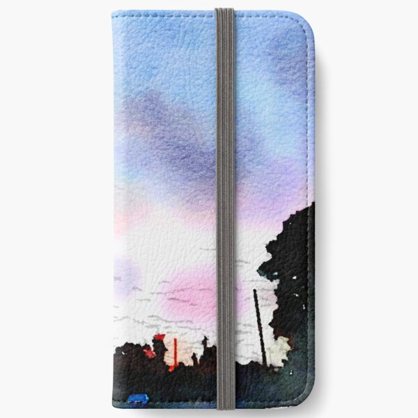 Watercolor Sunset iPhone Wallet