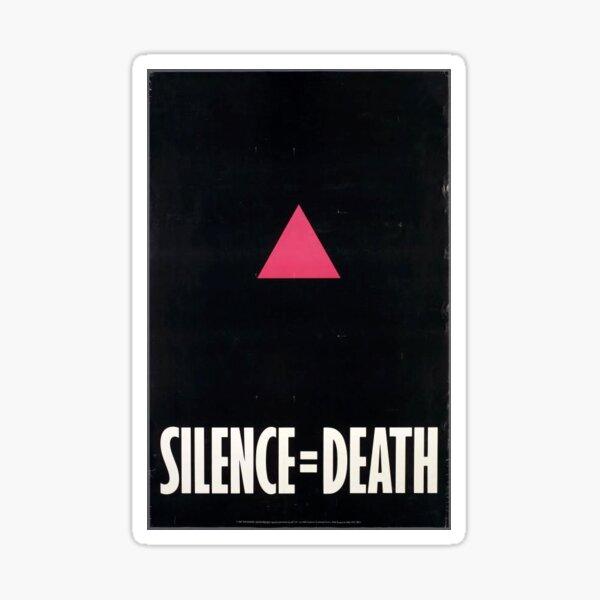 Silence=Death Fight Aids Sticker