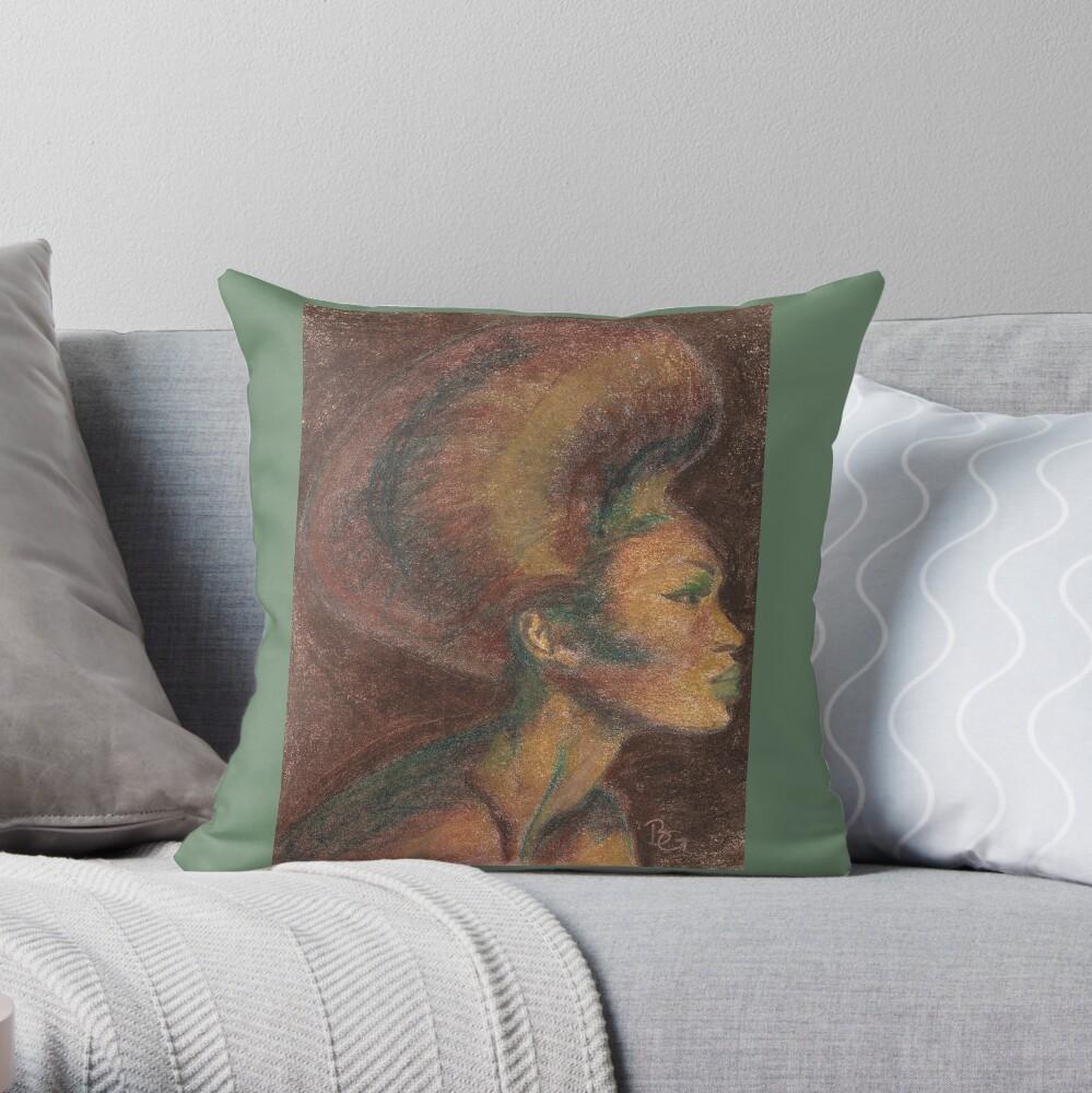 Melanin Beauty Throw Pillow