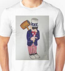 Western Uncle Sam Street Art USA Unisex T-Shirt