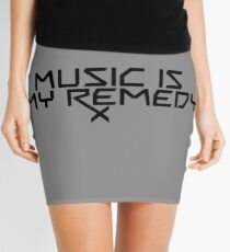 Music is my Remedy (RX) Mini Skirt