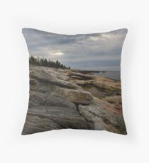 Ocean Point Boothbay Maine Throw Pillow