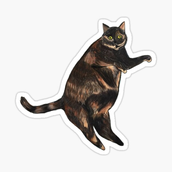 Mosaic the Cat Sticker
