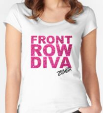 Front Row Diva Women's Fitted Scoop T-Shirt