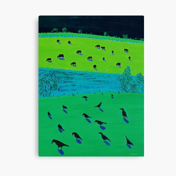 Black currawongs Canvas Print