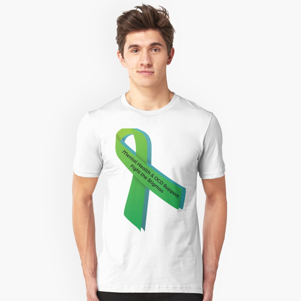 Mental Health & OCD Support - Fight the Stigmas Unisex T-Shirt Front