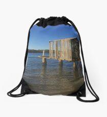 Boat House, Maroochydore Qld Drawstring Bag