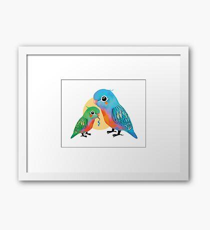 Parakeets Framed Print