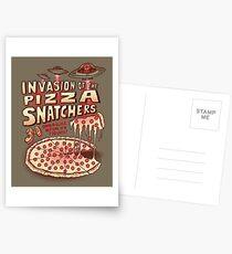 Invasion der Pizzaschneider Postkarten