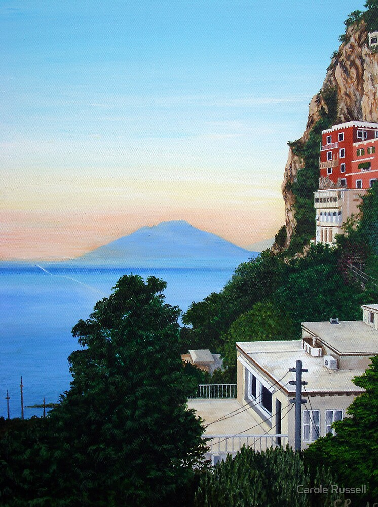 Vesuvius sunset by Carole Russell
