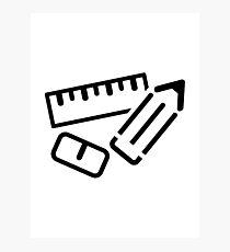 Ruler Pen Eraser Photographic Print