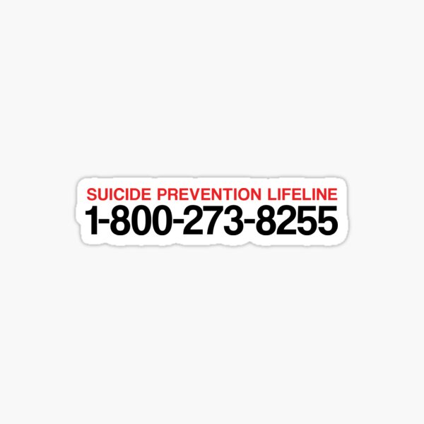 National Suicide Prevention Lifeline Sticker