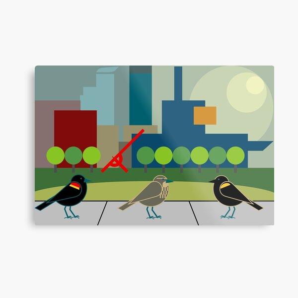 Red-winged Blackbirds Metal Print