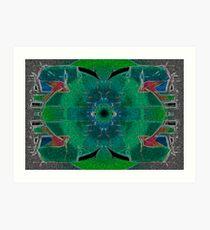 verde azul +1 Art Print