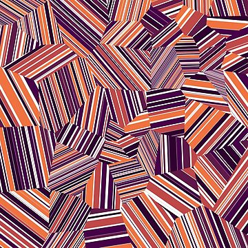 Berry Offcuts - Voronoi Stripes by EsqueDesign