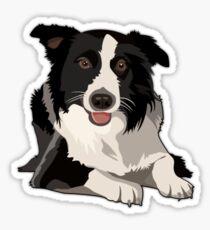 #Border Collie Dog 1 Sticker