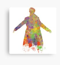 Sherlock Holmes Watercolour Splash Canvas Print
