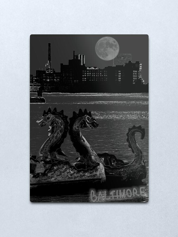 Alternate view of Baltimore Inner Harbor Metal Print