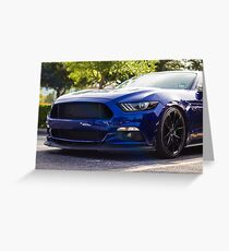 Ford Mustang S550 Greeting Card