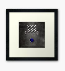 Portrait of a virtual mind. Peter Morrison. Framed Print