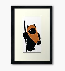 Ewok Bear, Star Wars Framed Print