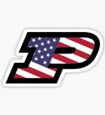 Purdue American Flag Sticker