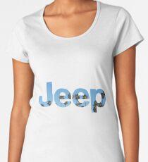 Jeep Palm Tree Sky Women's Premium T-Shirt