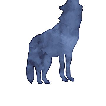 Wolf watercolor by Phoenix23