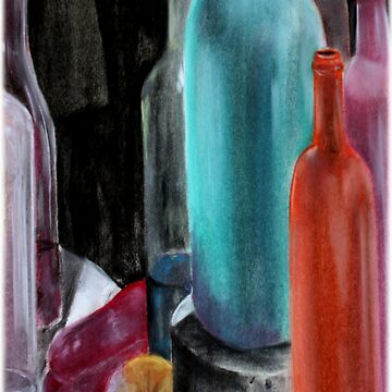 bottles and fruit by teej