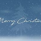 Merry Christmas - Blue Snowfall by Daniel Lucas