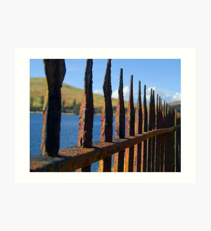 Golden Gate or Rusty Fence? Art Print