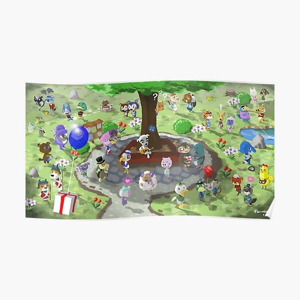 Bienvenue à Animal Crossing Poster