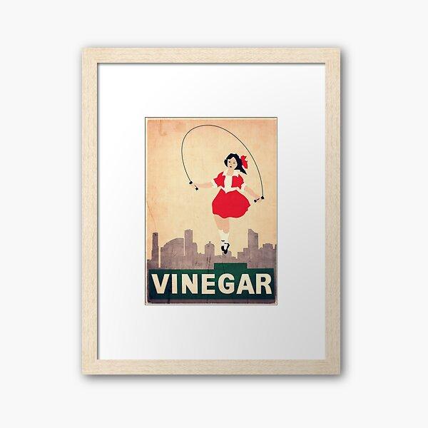 Skipping Girl Vinegar Framed Art Print