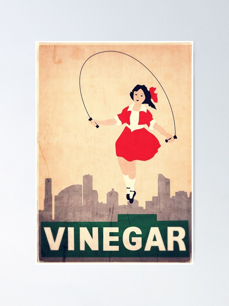 Alternate view of Skipping Girl Vinegar Poster