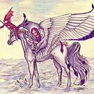 Angel with Unicorn and Dragon by Stephanie Small