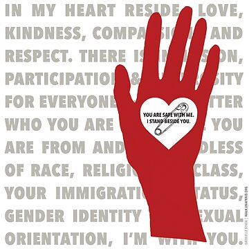 Heart...Hand...Safety...I Stand With You (WHT) by studiolabeleven