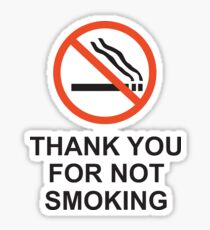 Thank You For Not Smoking, Design, Quote Sticker