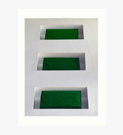 Three Square Feel Art Print