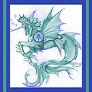Sea Winged Unicorn by Stephanie Small
