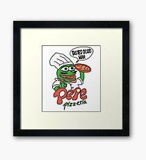 Pepe Pizzeria Framed Print